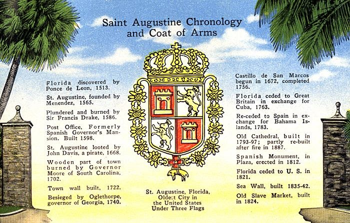 """Heraldry: A """"New"""" Coat of Arms for St. Augustine, Florida"""