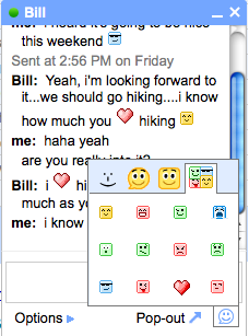 G chat emoticons