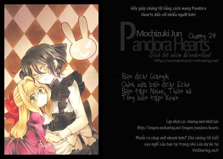 Pandora Hearts chương 024 - retrace: xxiv hello my sister trang 1
