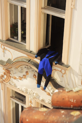Prague - neoprene in the window