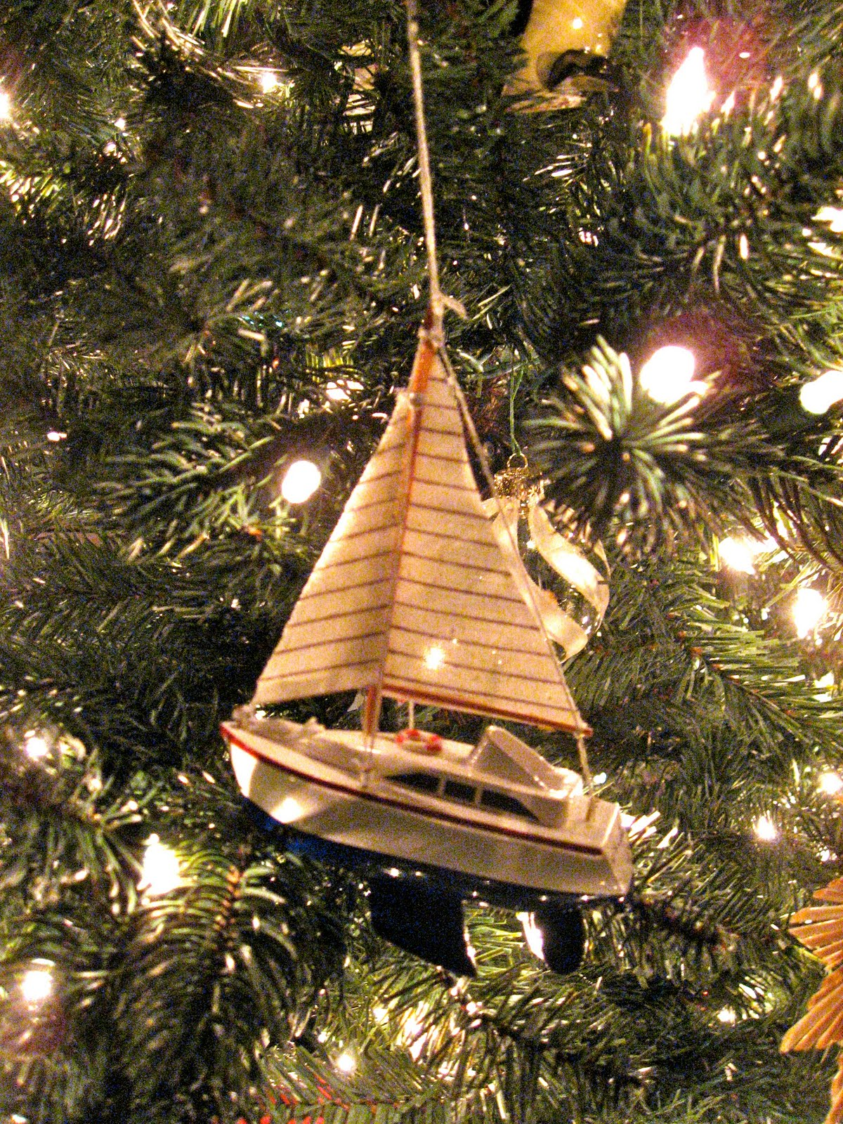 We Have So Many Ornaments Already, That I Only Purchased A Few Irresistible  Ones This Year I Found This Darling Red, White And Blue Sailboat At Crate  And