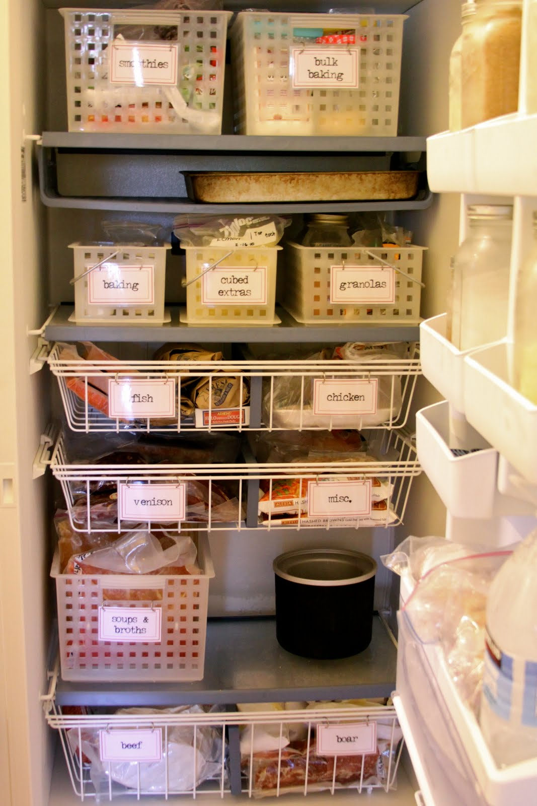 Fantastic Homestead Revival: Upright Freezer Organization WW39