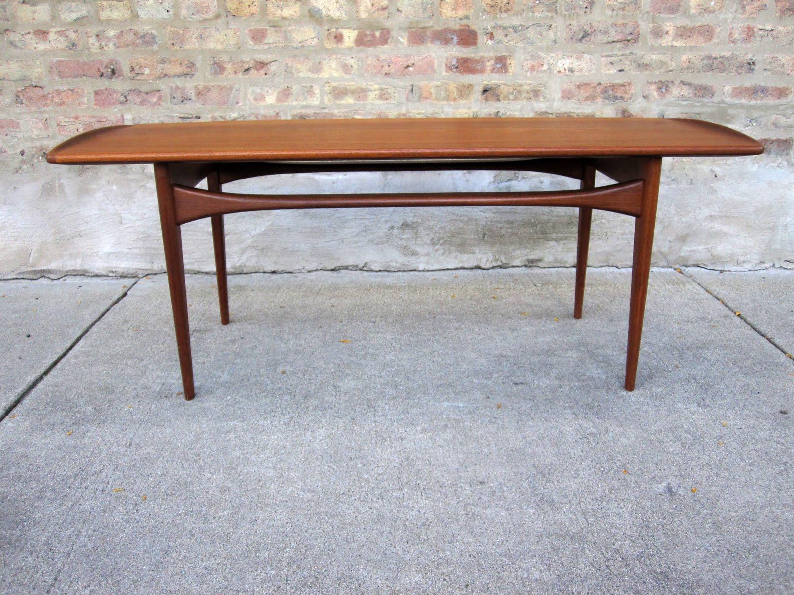 circa midcentury: 'finn juhl' teak coffee table
