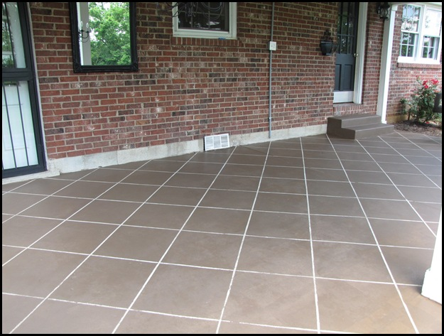 Someday Crafts: Faux Tiled Patio