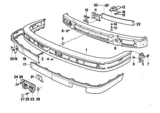 5 Lug E30 OBDI M52: E30 Plastic Bumpers