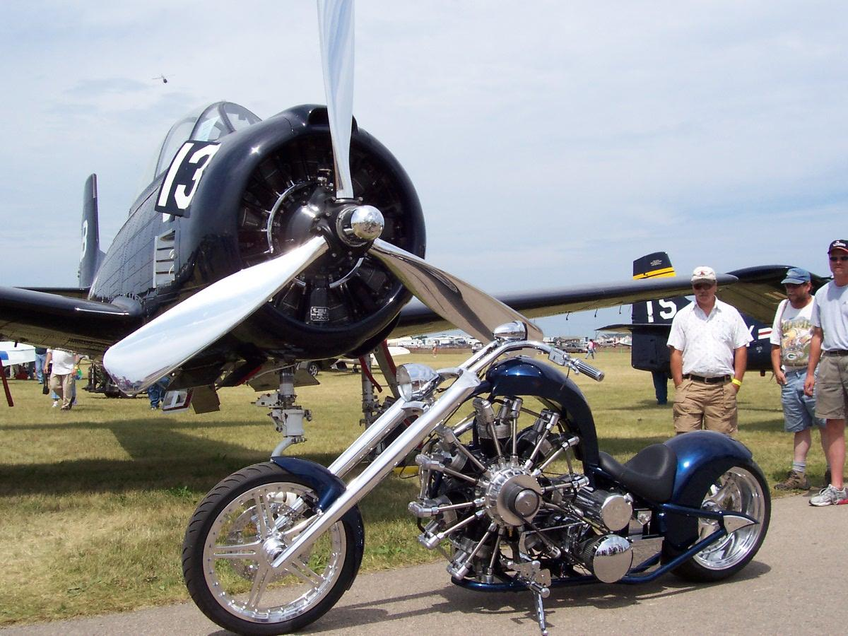 Chopper Motor Extreme Machines Radial Engine Motorcycle