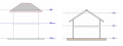 Sketsa rumah bertingkat