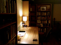 """I'm going to stare at the whorled grain of wood in this desk...to make it confess everything.""  LL"