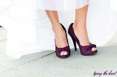 I love my plum shoes more than any other bridal white shoes I found during  the process of planning our wedding. They added a splash of color and an  adorable ... 6f9b5180f3