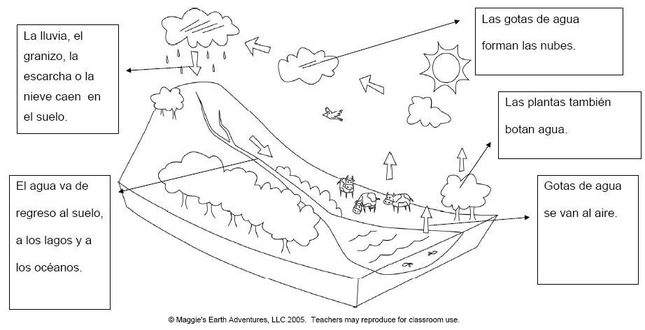 Dibujo Ciclo Del Agua Colorear Imagui