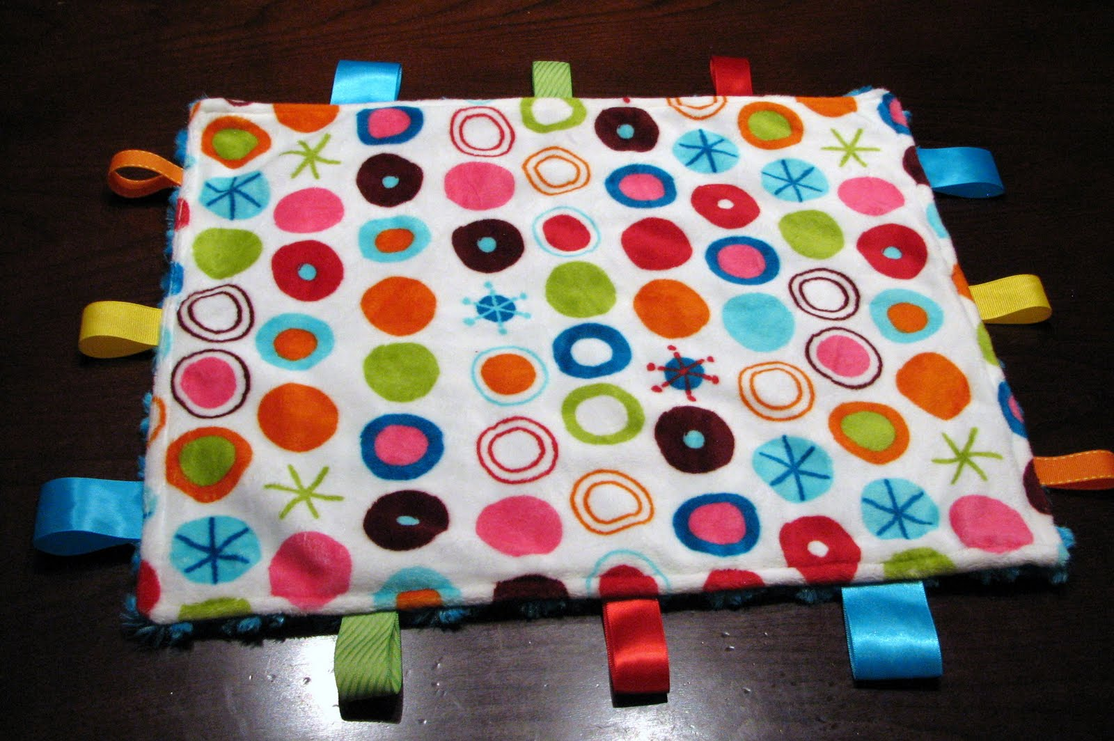 What I Made Today  TUTORIAL  Ribbon Tag Mini Blanket 456db50d4