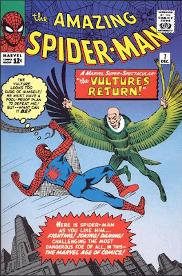 Amazing Spider-Man #7, the Vulture and Spidey confront each other in the sky above New York City