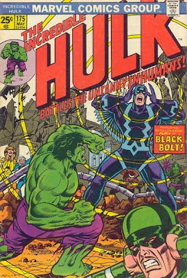 Incredible Hulk #175, Inhumans, Black Bolt, Counter-Earth, Herb Trimpe