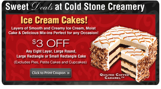 Coupon For Cold Stone Creamery Ice Cream Cake