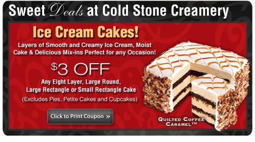 coupon cold stone ice cream cake