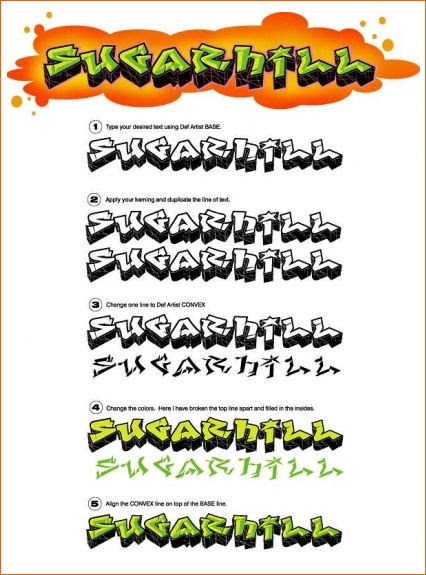 Download 350 Graffiti Fonts Pack-Templates e Temas