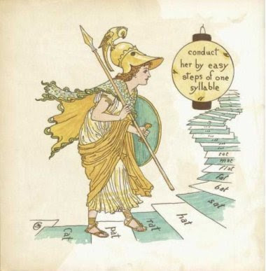 "Ill. aus ""A Romance of the three Rs"" von Walter Crane"