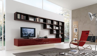 Modern Living Room Wall Units For Book Storage From Misuraemme