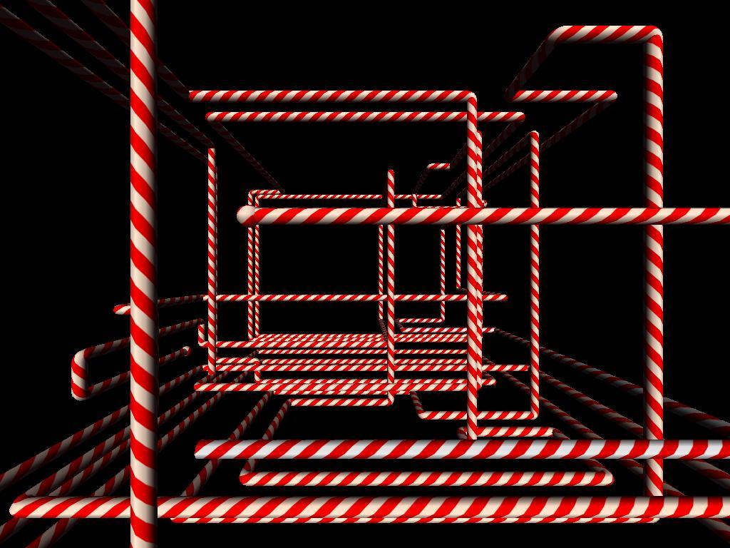 Journey of Dawn: Windows XP Candy Cane Screensaver