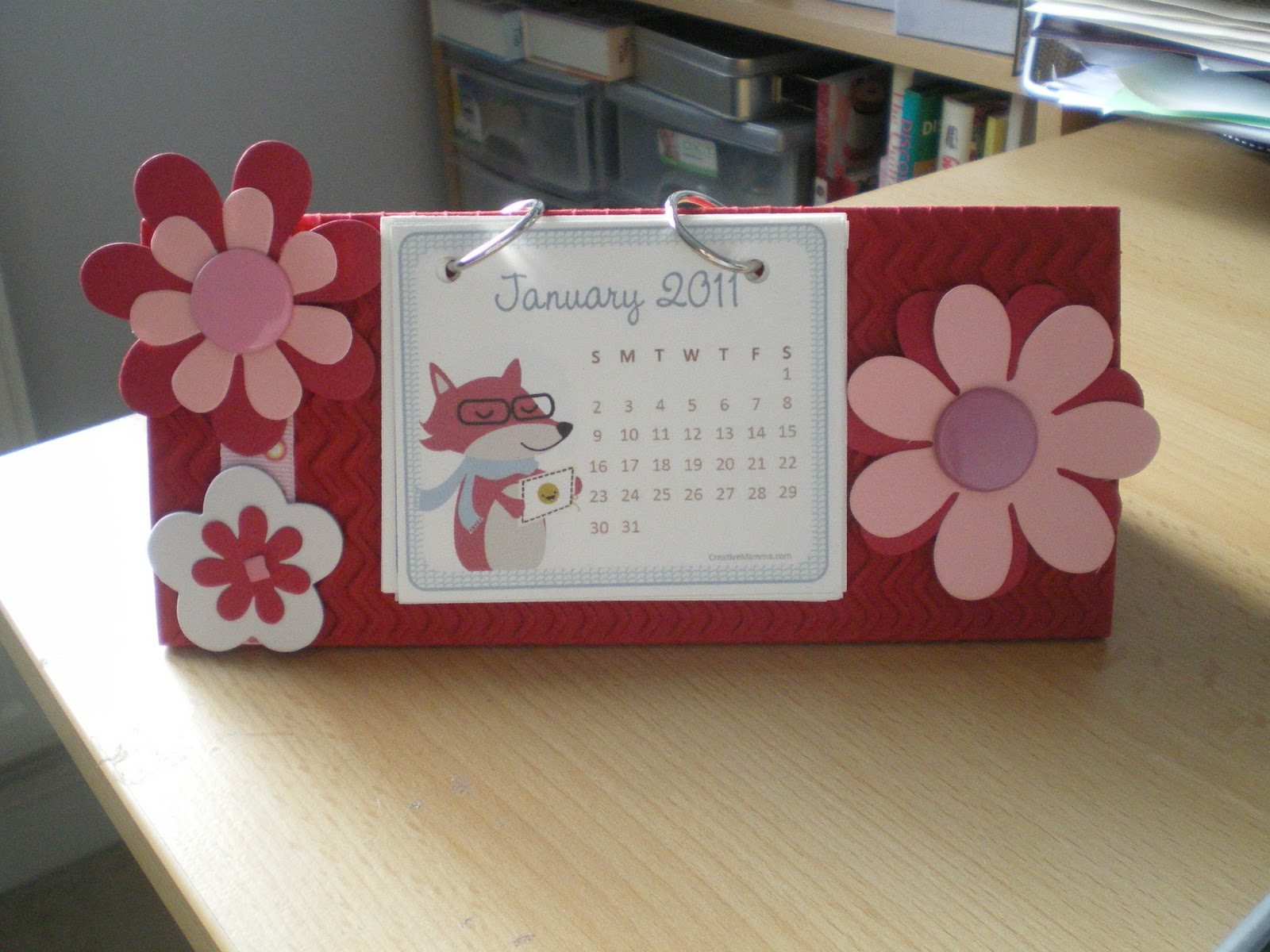 Ks Calendar Ideas To Make : Scratchy cat crafter easy homemade desk calendar