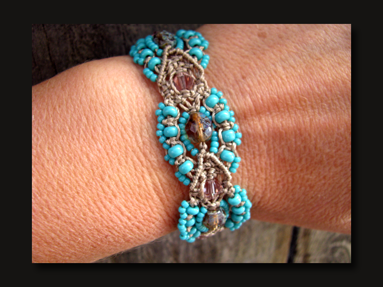 micro macrame patterns the beading yogini tonopah dreams micro macrame bracelet 6193