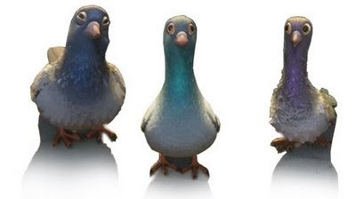Friday Fave: Three Blue Pigeons
