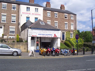 One of the smaller motorbike shops