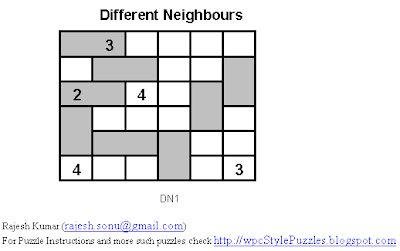 Different Neighbours Puzzle