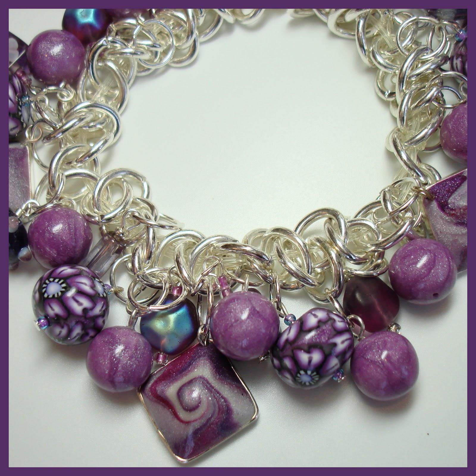 Polymer Clay Charm Bracelet: Beadazzle Me Polymer Jewelry: Polymer Clay & Stainless