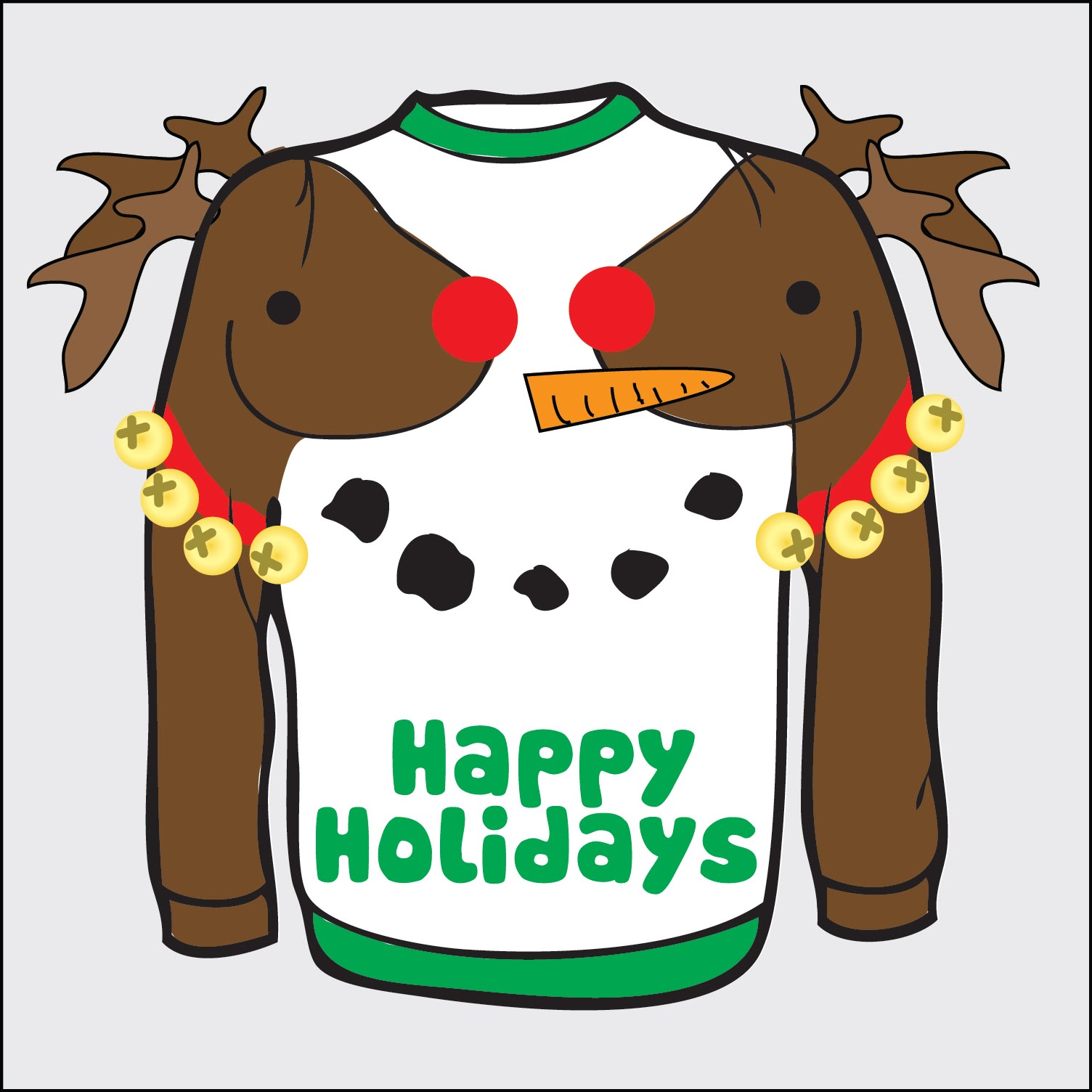 Drawings Of Ugly Christmas Sweaters