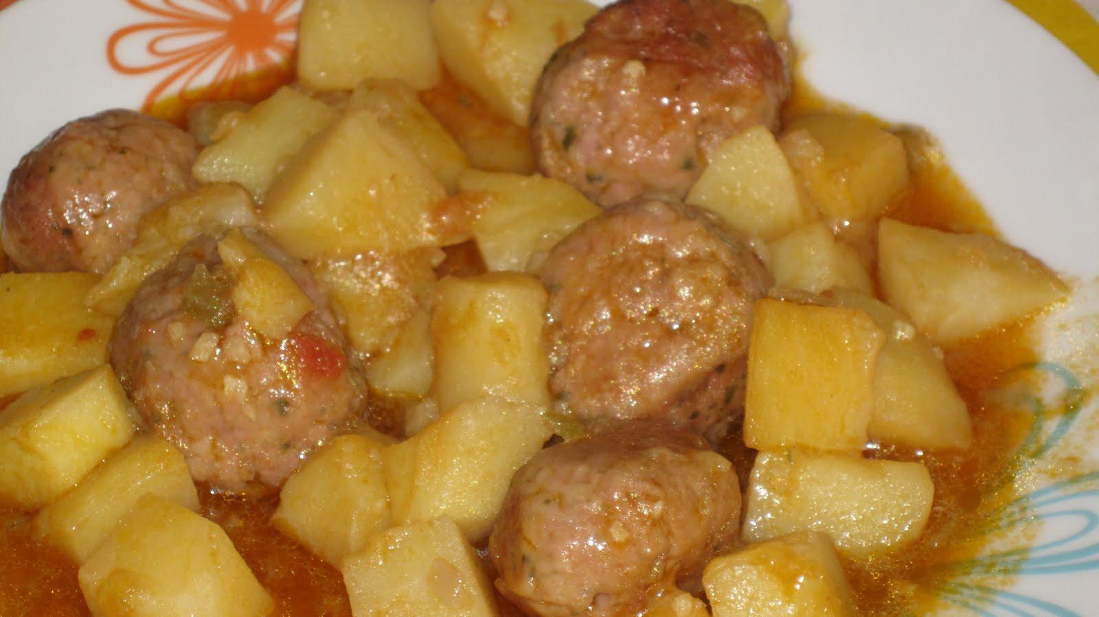 Mis recetas de cocina alb ndigas con patatas - Albondigas de patata ...