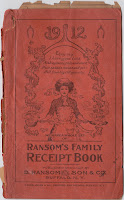 ransom family receipt book vintage