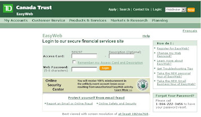 Td personal banking : pitaniesug ga