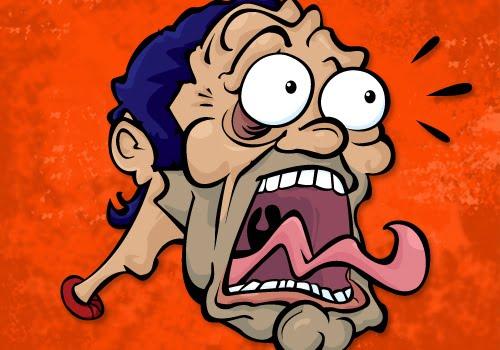 Cartoon Dan: Frightened Man