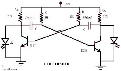 Electronic Hobby Projects: LED Flasher