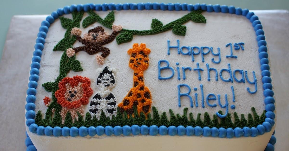 The Buttercream Bakery Safari 1st Birthday Cake