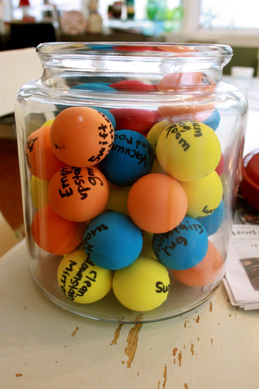 Job Chore Balls