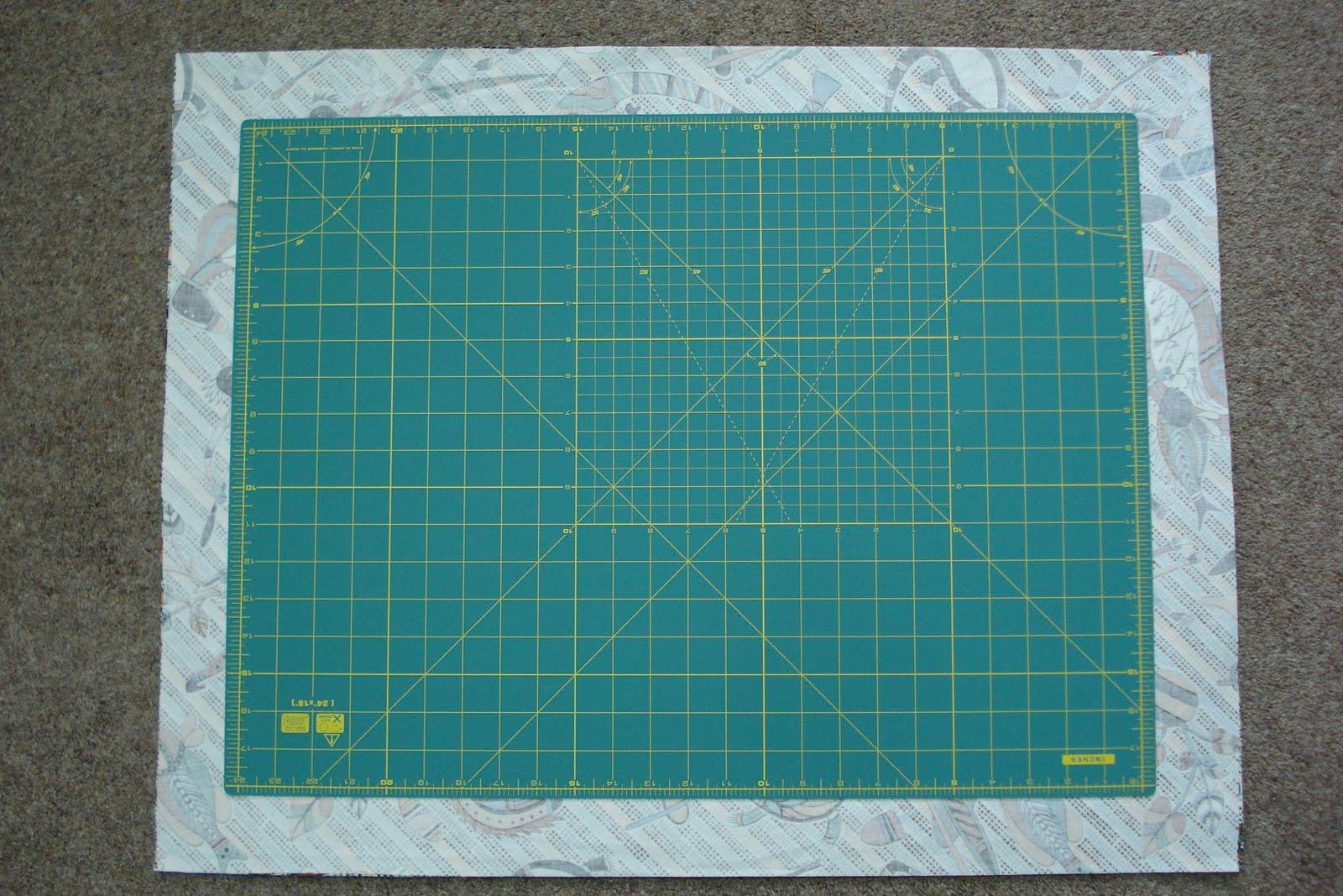 Angie Quilts Mat Amp Ruler Bag Part 1