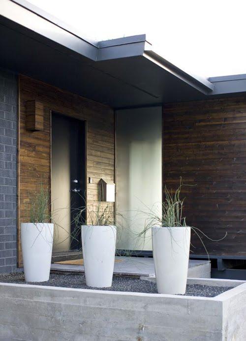 Casas minimalistas y modernas accesos modernos en casas for Casa minimalistas
