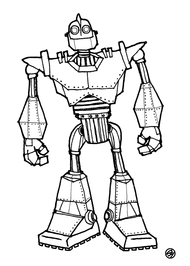 Young designs blog november 2009 for Iron giant coloring pages