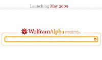 The Wolfram Alpha query screen