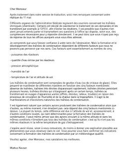 Chemtrails in switzerland r ponse officielle de l 39 office f d ral de l 39 environnement ofev au - Office federal de l environnement ...