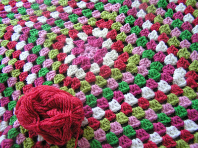 Scrap Granny Square Blanket