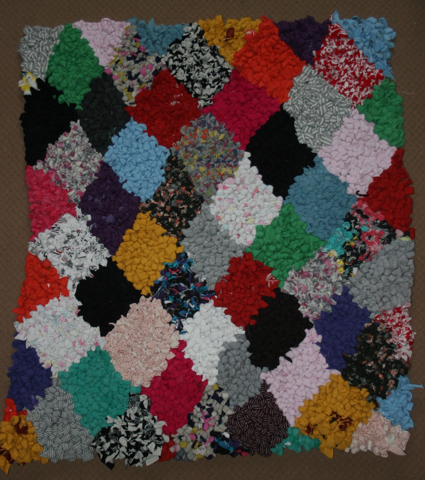 Lydia's Blog: Harlequin Rag Rug