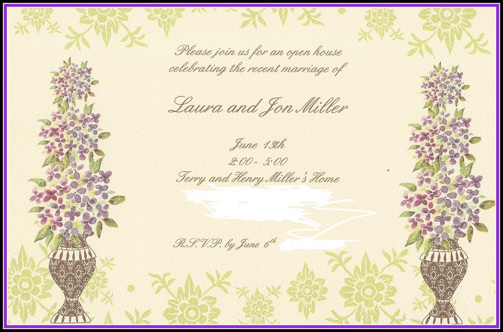 Wedding Celebration Invitation: Posh In A Pinch: {Event Showcase} Post-Wedding Reception