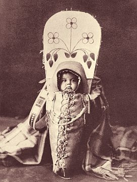 Swaddled boy of the Nez Perce tribe
