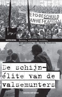 "Book Cover: ""De schijn-élite van de valse munters"" (The Pseudo-Elite of the Counterfeiters), a very well-executed pastiche of typical leftist activist design"
