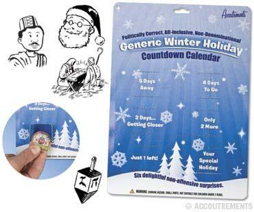 PC Winter Holiday calendar