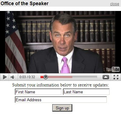 Unsubscribe Boehner