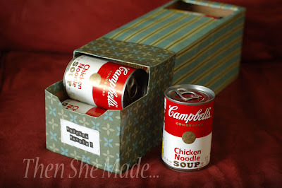 Soda Box Soup Can Holder